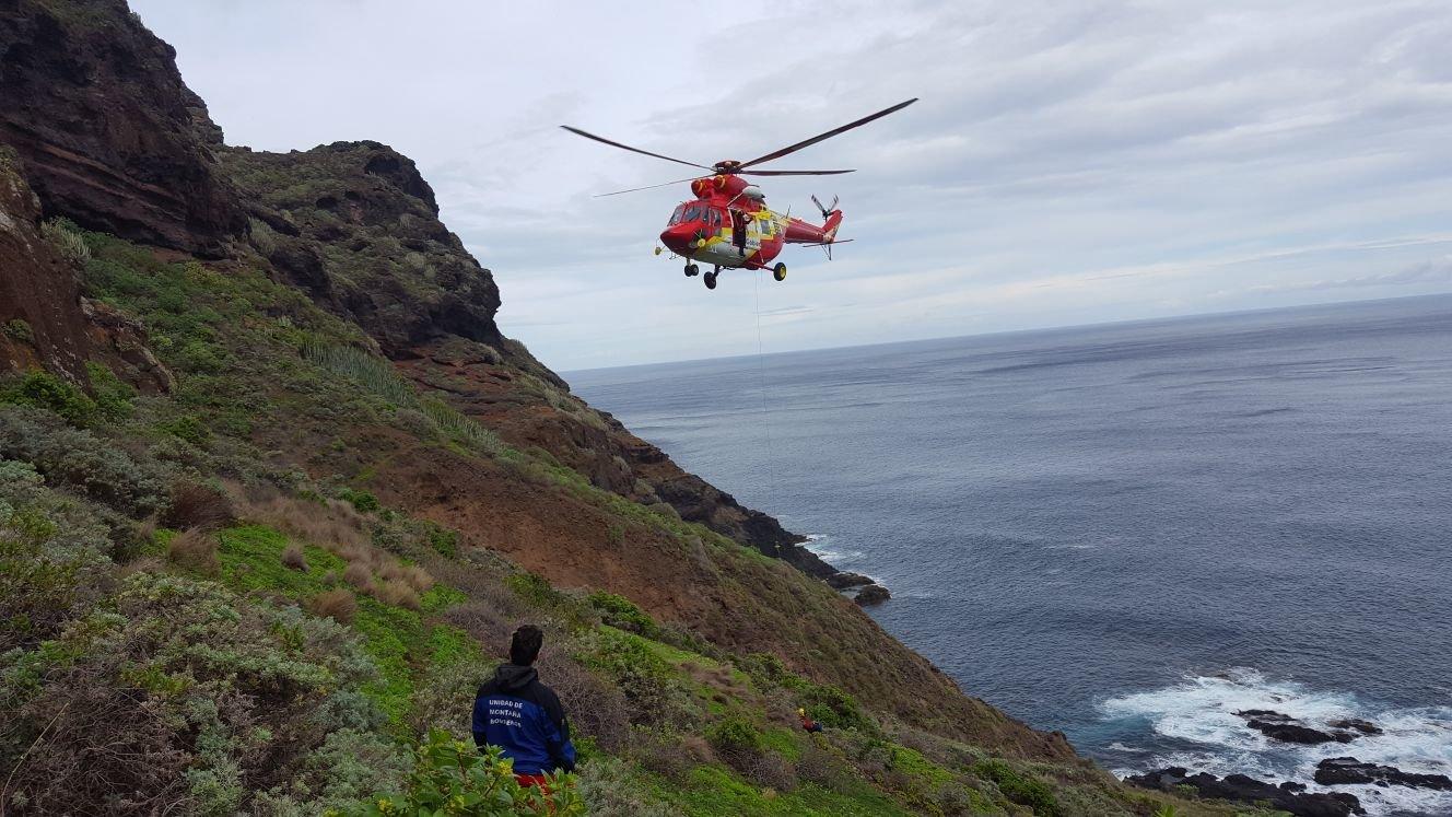 Rescate de un senderista fallecido en Punta del Hidalgo - SUCESOS ...