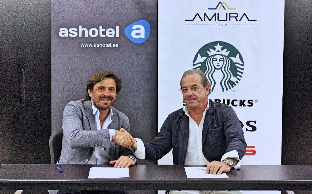 Ashotel y Amura Food firman un convenio para generar sinergias con varias marcas de esta compañía canaria de hostelería