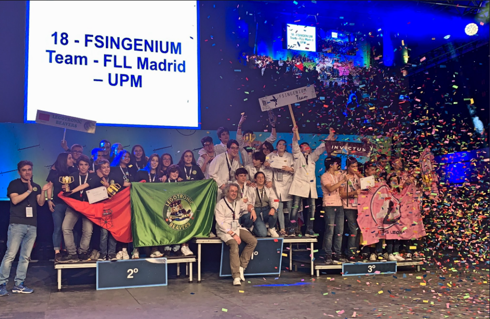 Fsingenium Team, Legotronic Beavers e Invictus Lego, campeones de la Gran Final First Lego League España