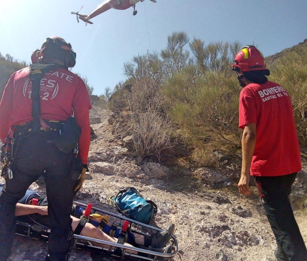 Bomberos de Tenerife rescata a un escalador y a un senderista durante el fin de semana