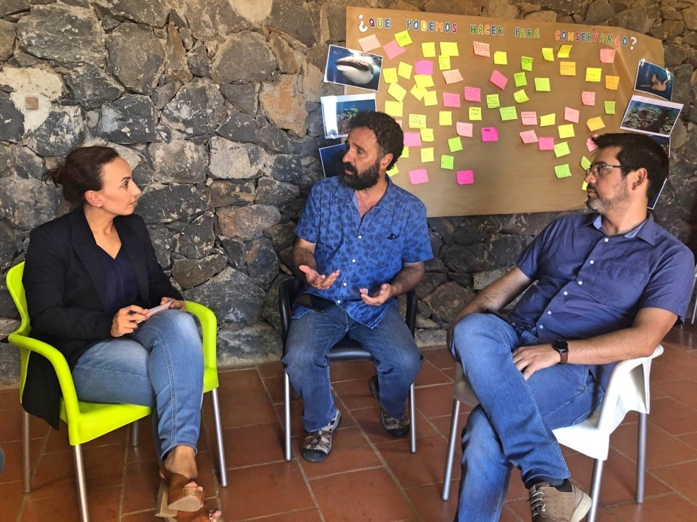Olivia Delgado visita a Aldeas Infantiles SOS en Tenerife