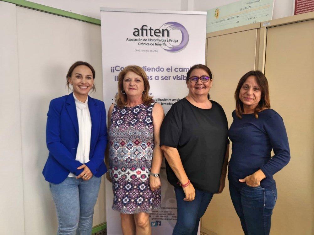 Olivia Delgado se reúne con AFITEN para conocer la realidad de la fibromialgia