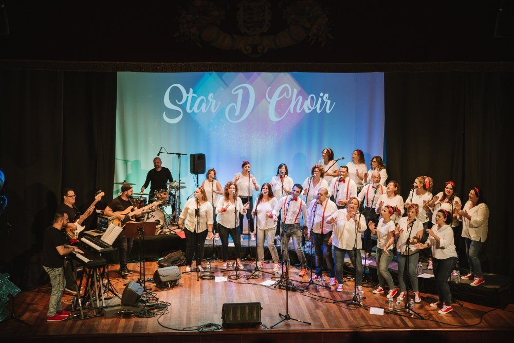 Cita solidaria de Star D Choir en Tegueste