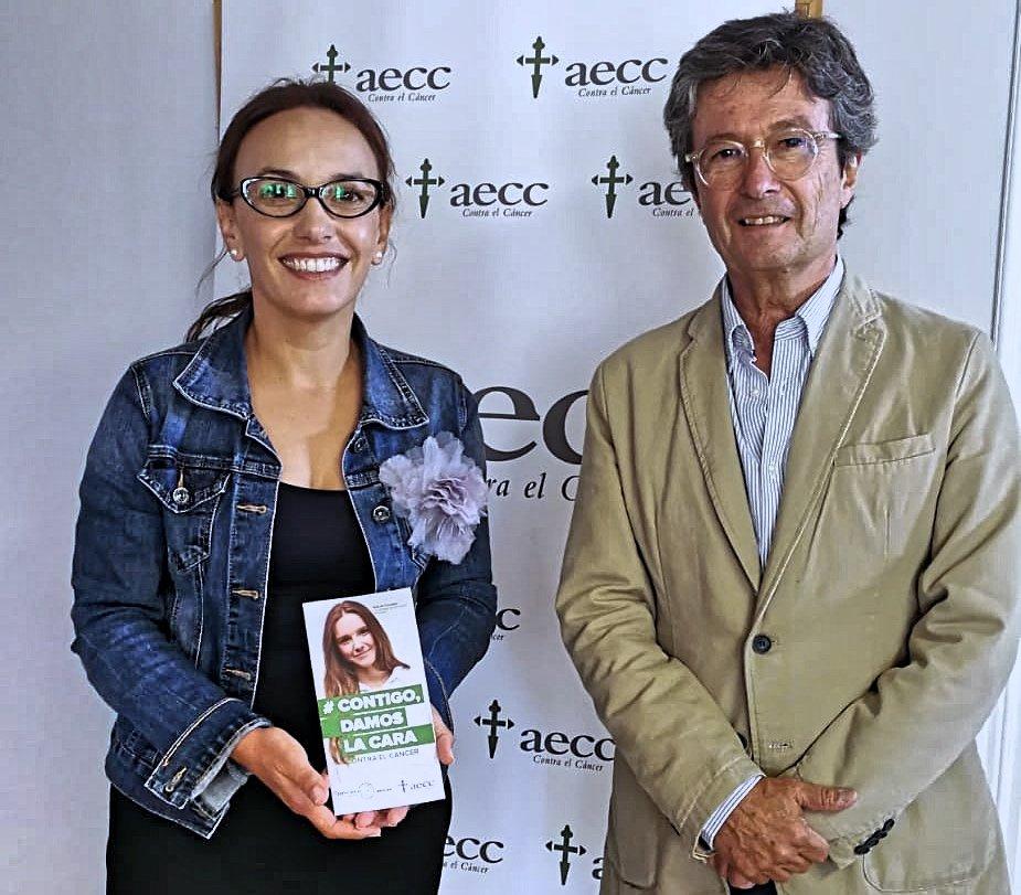 Olivia Delgado se compromete a promover la investigación contra el cáncer ante la AECC