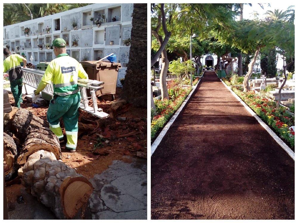 Obras de mejora del cementerio municipal de San Carlos en Puerto de la Cruz