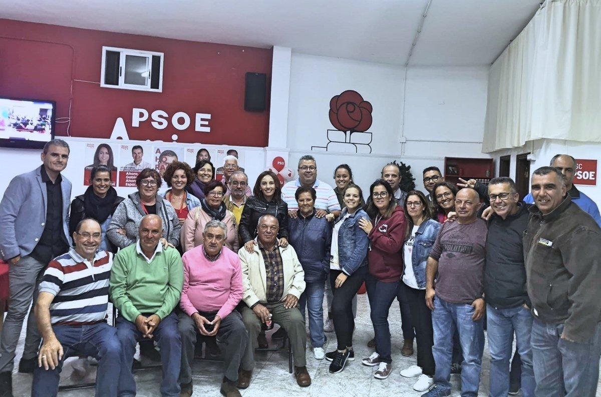 El PSOE muestra su respaldo a los socialistas de Arico