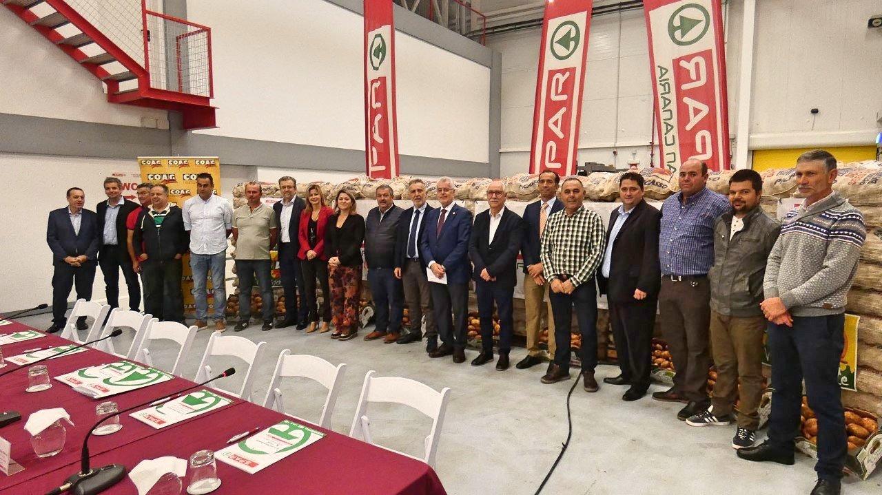 El presidente de Canarias valora el convenio entre SPAR Gran Canaria y los productores de papas