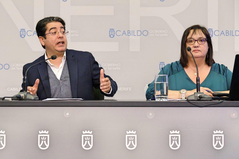 El presidente del Cabildo, Pedro Martín, y la consejera de Acción Social, Marián Franquet destacan que el IASS gestionará 212 millones, 21 más que el año pasado, para atender a las personas y mejorar su calidad de vida