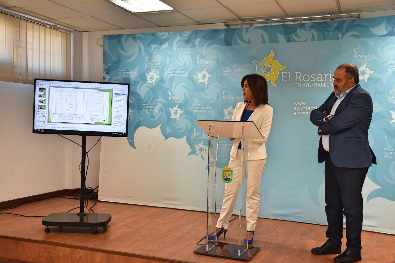 Teresa Cruz presenta el proyecto de construcción de un nuevo consultorio en La Esperanza